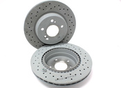 Mercedes Brake Rotor Upgrade Kit Rear - Genuine Mercedes SLVRARROW