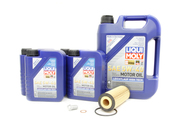 Mercedes Oil Change Kit 5W-40 - Liqui Moly 2781800009.9L.V1