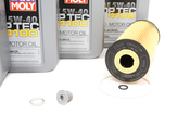 VW Audi Diesel Oil Change Kit 5W-40 - Liqui Moly KIT-074115562.4L
