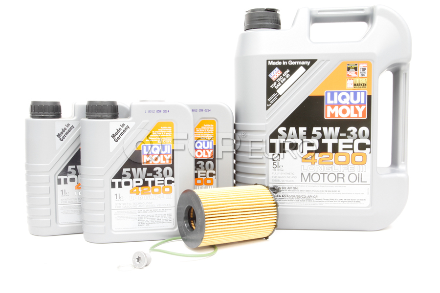 VW Audi Diesel Oil Change Kit 5W-30 - Liqui Moly KIT-95810722220.8L