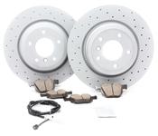 BMW Drilled Brake Kit - Zimmermann/Akebono 34216855004KT8