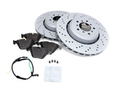 BMW Brake Kit - Zimmermann/Textar 34112283801KTF3