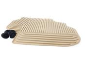 BMW Beige All-Weather Floor Mat Set Rear (F10) - Genuine BMW 51472153890