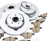BMW Brake Kit - Zimmermann/Akebono 34116763824KTFR