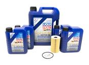Porsche Engine Oil Change Kit (5W40) - Liqui Moly/Mahle 99610722560KT2