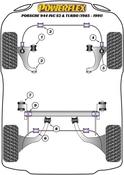 Porsche Pivot Strut to Tube Bushing Set - Powerflex PFR57-223