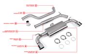 VW Performance Catback Exhaust System - Unitronic UH025EXA