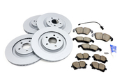 Audi VW Brake Kit - Zimmermann/Akebono 8K0615301MKT3