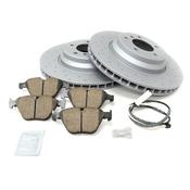 BMW Drilled Brake Kit - Zimmermann/Akebono 34116855000KTF15